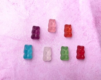 Gummy bear ring, fake food jewelry, miniature food jewelry, gummy bear jewelry, miniature food, kawaii, adjustable ring