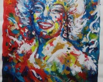 Marylin. Acrylic on canvas