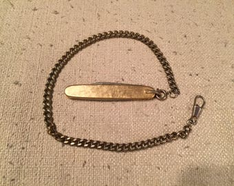 Vintage Providence Cutlery Co. Pocket Knife with chain