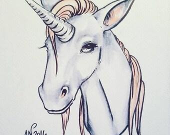 Unicorn Mini Drawing
