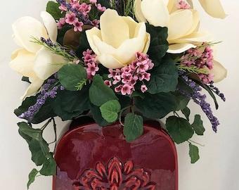 Magnolias, Centerpiece, Artificial Floral Arrangements, Home Decor, Etsy, Etsy Seller, Silk Arrangements, Handmade, Home Decor