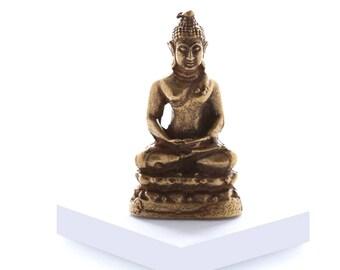 Miniature Brass Buddha in Meditation II
