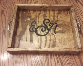Wooden tray , Wooden serving tray