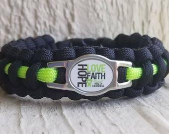 Mental Health Awareness Paracord bracelet
