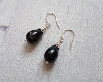 Astrophyllite and Sterling Silver Gemstone Earrings // Gemstone Jewellery //
