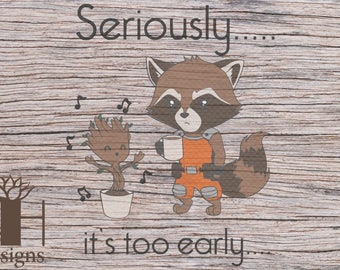 Early Morning Raccoon SVG/PNG
