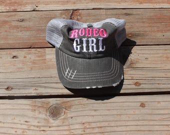 Rodeo Girl Pink Trucker Hat