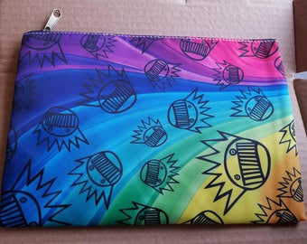 Ween Rainbow Boognish large zippered clutch/handbag/pouch