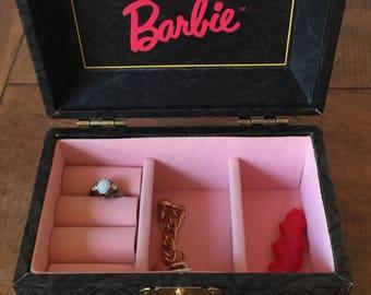 Vintage Barbie Jewelry Box, Barbie Jewelry Box, Little Girl's Jewelry Box