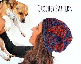 Ferns Beanie Crochet Pattern