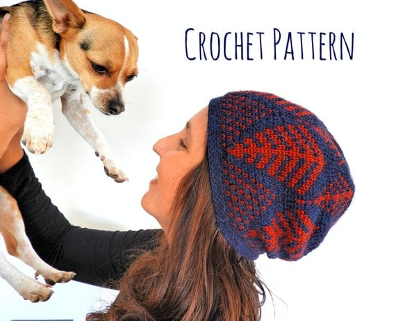 Ferns Beanie Crochet Pattern
