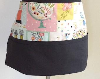 Waitress apron vendor apron teacher apron utility apron - black & white apron