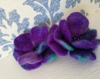 Felted flower 2  brooches