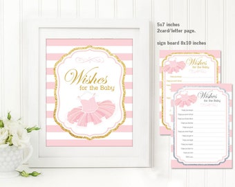Wishes for baby - Girl Baby Shower Invitation, Tutu invitation, Ballerina Baby Shower invitation, Tutu Baby Shower Invitation