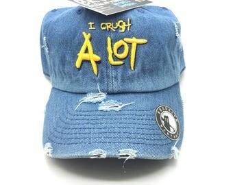 Denim Distressed I Crush A Lot Dad Cap Hat