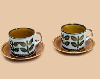 Boch Tea cups and saucer rambouillet belgium (set of two)