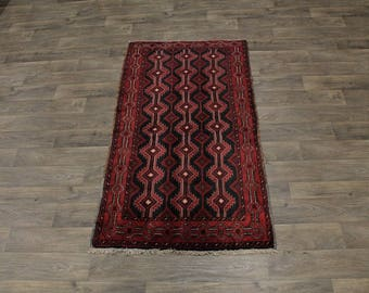 Exquisite Pattern Foyer Tribal Balouch Persian Rug Oriental Area Carpet 3ʹ6X6ʹ5