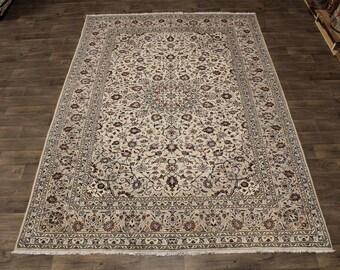 Enchanting Unusual S Antique Light Kashan Persian Rug Oriental Area Carpet 8X12