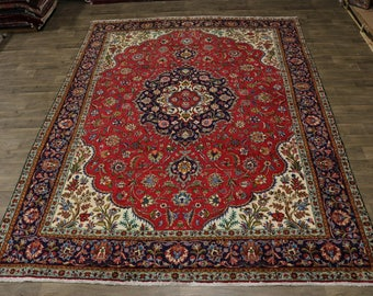 Captivating Floral S Antique Tabriz Persian Wool Rug Oriental Area Carpet 10X13