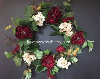 Valentine's wreaths, Valentines wreath for door, Valentine's front door wreath, everyday door wreaths, all seasons wreaths, full wreaths