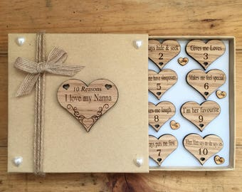 10 reasons why i love you, hearts in a gift box,