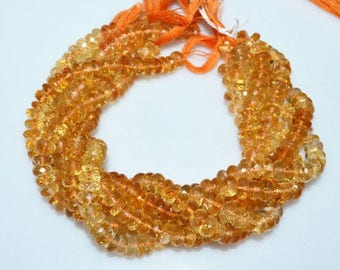 50% OFF 1 Strand Citrine Faceted Rondelle Beads 10 Inch Strand , Citrine Faceted Rondelle Beads , 7.50 mm - MC385H