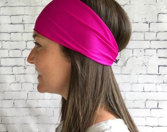 Plain sport pink head band