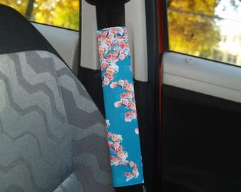Seat belt cover floral Car accessories for woman Birthday gift for her Car decorations Car decor Car accessory Car accessories set Belts