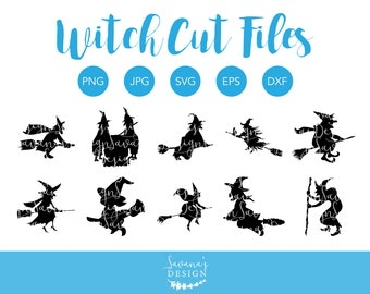 Witch SVG Files, Witch Silhouette SVG, Witch DXF, Witch Cut Files, Witch Clipart, Witch Clip Art, Svg Witch, Witch Svg, Witch Silhouette