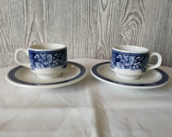 Two cups and saucers Mosa Maastricht Holland