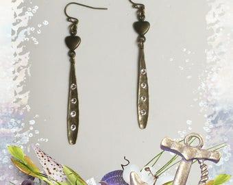 Brass Long Dangle Earrings