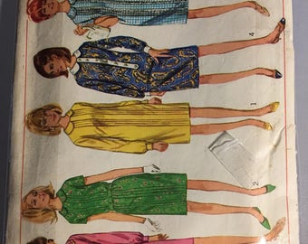 6920 Simplicity Shift Dress Pattern with Peter Pan Collar Size 16