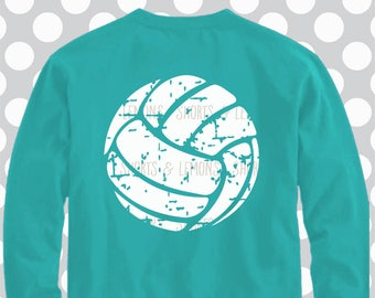 Volleyball svg, distressed svg, monogram svg, volleyball, dxf, eps, png, volleyball shirt, iron on, files for cricut, silhouette, cut file