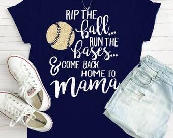 Baseball svg, Baseball Mom svg, mama svg, Rip the ball run the bases and come back home to Mama, Baseball Mama svg, svg file, baseball