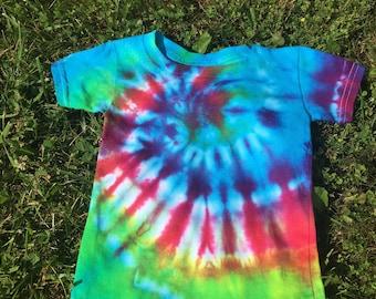 Rainbow Spiral Tie Dye Shirt --Size 2T