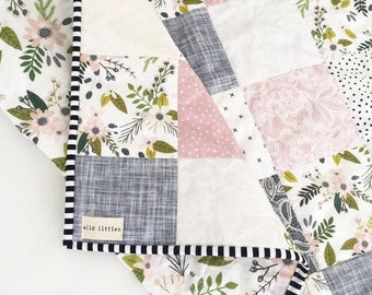 lavender puzzlecloth modern wholecloth baby quiltbaby girl quiltbaby quilt