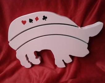 The pink piglet card holder