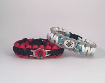 RWBY Ruby Rose Weiss Schnee Inspired Paracord Bracelet