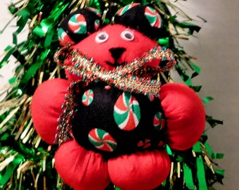 Christmas Ornament, Peppermint Bear