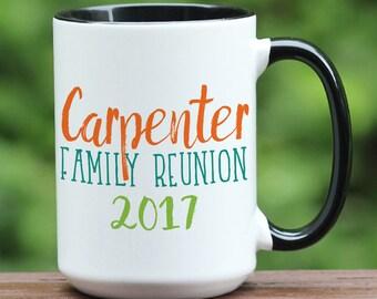 Family reunion coffee mug, custom family reunion gift, family reunion favors, family get together ideas, unique family gift, reunion favors