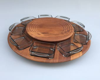 Vintage Digsmed Condiment Serving Set Lazy Susan - Danish Mid Century Modern