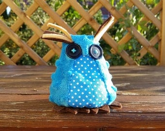Handmade plush owl ornament Christmas owl decor