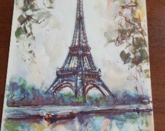 1275 - Vintage Postcard - Paris La Tour Eiffel