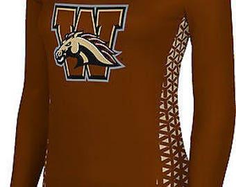 ProSphere Women's Western Michigan University Geometric Long Sleeve Tee (WMU)