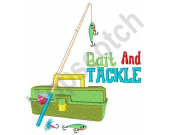 Bait And Tackle - Machine Embroidery Design