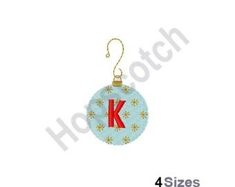 Letter K - Machine Embroidery Design, Ornament