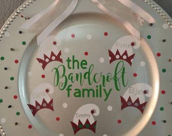 Family Christmas door hander