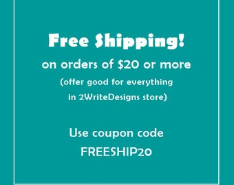FREE SHIPPING | Use coupon code - nothing to buy
