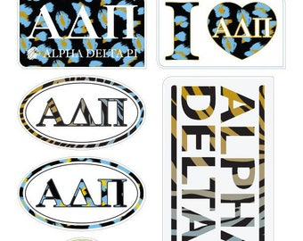 "ALPHA DELTA PI ""Animal"" Sticker Sheet"