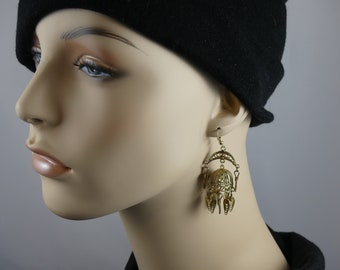 Vintage gold filigree dome earrings - Indian Jhumka Jhumki